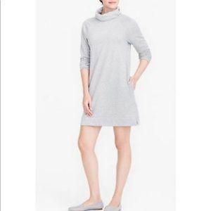 J Crew Cowl Sweatshirt Dress Gray Small